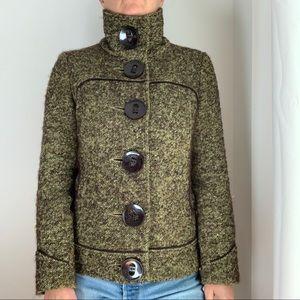 Soia & Kyo Coat Jacket Wool Blend Short Green M